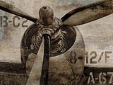 Vintage Propeller Poster by Dylan Matthews