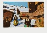 Hamlet in Tyrol Posters av Alfons Walde