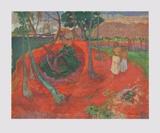 Landscape at the Beach of Tahiti Keräilyvedos tekijänä Paul Gauguin