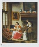 Interior Scene Keräilyvedos tekijänä Pieter Hooch
