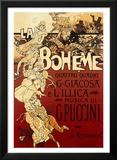 La Bohème, musique de Puccini Affiches par Adolfo Hohenstein