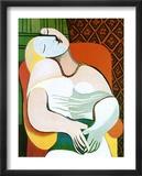 Le rêve Affiche par Pablo Picasso