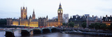 Arch Bridge across a River, Westminster Bridge, Big Ben, Houses of Parliament, Westminster, Lond... Photographic Print