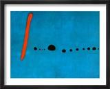 Bleu II Posters par Joan Miró