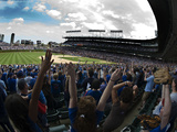 Spectators in a Stadium, Wrigley Field, Chicago, Cook County, Illinois, USA Fotografie-Druck von  Panoramic Images
