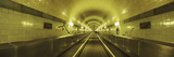 Underground Walkway, Old Elbe Tunnel, Hamburg, Germany 写真プリント : パノラミック・イメージ(Panoramic Images)