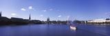 Buildings at the Waterfront, Alster Lake, Hamburg, Germany 写真プリント : パノラミック・イメージ(Panoramic Images)