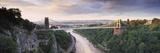 Bridge across a River at Sunset, Clifton Suspension Bridge, Avon Gorge, Avon River, Bristol, Eng... Photographic Print by  Panoramic Images