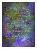 1 Corinthians 13:4-8A Giclée-Druck von Cathy Cute