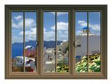 View from the Window at Mykonos Island 4 Lámina giclée por Anna Siena