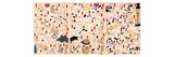 Cats Suggested as the Fifty Three Stations of the Tokaido Impressão giclée por Kuniyoshi Utagawa