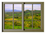 View from the Window at Castiglione D'Orcia Gicléetryck av Anna Siena