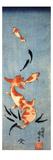 Gold Fish Giclée-tryk af Kuniyoshi Utagawa