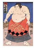 The Sumo Wrestler 2 Giclee-trykk av Kuniyoshi Utagawa