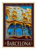 Barcelona Spania 5 Giclee-trykk av Anna Siena