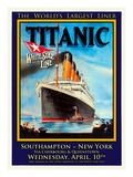 Titanic White Star Line Travel Poster 1 Giclée-tryk af Jack Dow
