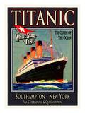 Titanic White Star Line Travel Poster 3 Giclée-Druck von Jack Dow