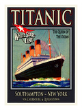 Titanic White Star Line Travel Poster 3 Giclee Print by Jack Dow