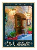 San Gimignano Tuscany 9 Giclée-Druck von Anna Siena