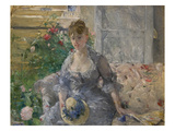 Woman Seated on a Sofa Prints by Berthe Morisot