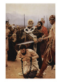 Saint Nicholas of Myra Saves Three Innocents from Death. Poster by Ilya Repin
