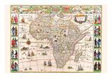 Afrika Giclée-Premiumdruck von Willem Janszoon Blaeu