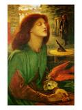 Blessed Beatrice (Beatrix) Plakater av Dante Gabriel Rossetti
