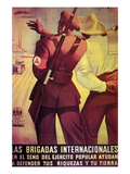The International Brigades Defend Your Resources and Your Land Print by  Cantos