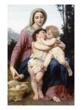 La Sainte Famille Affiche par William Adolphe Bouguereau