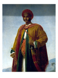 Study of a Portrait of an Indian Posters af Anne-Louis Girodet de Roussy-Trioson