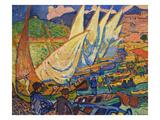Fishing Boats, Collioure Affischer av Andre Derain