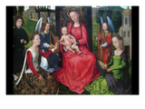 Virgin and Child with Saints Catherine of Alexandria and Barbara, Early 1480S Prints by Hans Memling