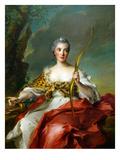 Madame De Maison-Rouge as Diana Art by Jean-Marc Nattier