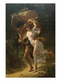 The Storm Planscher av Pierre-Auguste Cot