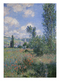 View of Vetheuil Print by Claude Monet