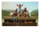 Jolly Flatboatmen Posters van George Caleb Bingham