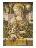 Madonna ja lapsi Julisteet tekijänä Carlo Crivelli