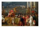 The Triumph of Aemilius Paulus, Poster von Antoine Charles Horace Vernet