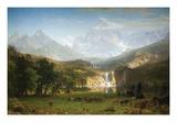 Rocky Mountains, Landers Peak Posters af Albert Bierstadt