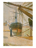 A Corner of the Harbor of Honfleur Prints by Georges Seurat