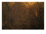 Winter Forest at Sunset Posters by Pierre Etienne Theodore Rousseau