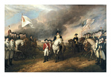Surrender of General Cornwallis Stampe di John Trumbull
