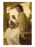 The Female Wine Enthusiast Posters par William Adolphe Bouguereau