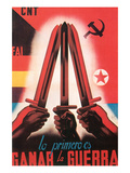 The First Task Is to Win the War Posters par  Cantos