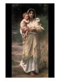 Corderos Pósters por Bouguereau, William Adolphe