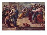 Christ Healing the Blind Pósters por  El Greco