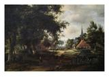 Entrada a un pueblo Arte por Meindert Hobbema