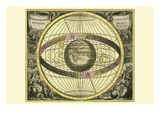 Scenographia Compagis Mundanae Brahea Posters por Andreas Cellarius