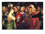 Christ and the Adulteress by Lotto Art by Lorenzo Lotto