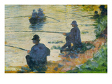 Fishermen Poster by Georges Seurat